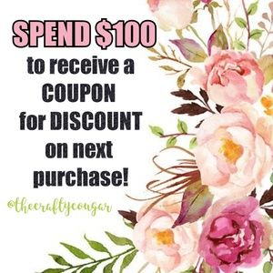 Other - ORDERS OVER $100 RECEIVE COUPON CODE